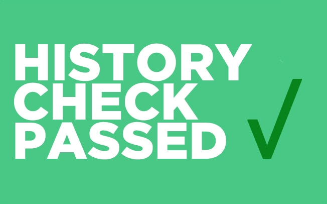History Check Passed